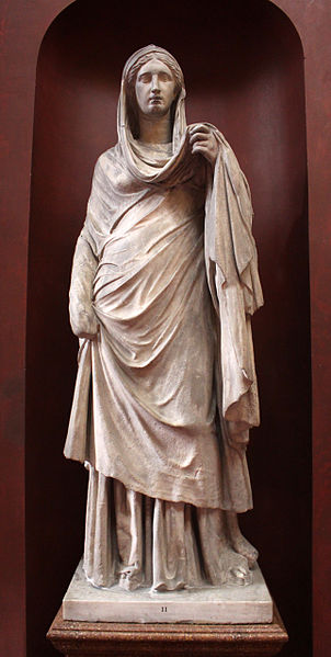 File:Statue of a mourning Roman woman.jpg