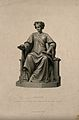 Statue of the goddess of medicine (Hygieia). Stipple engravi Wellcome V0007558.jpg