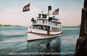 Phippsburg, Maine - Popham Beach steamer, c. 1910