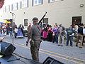 Steampunk Makers Fair Lafayette 2013 VineSt On Guard.JPG