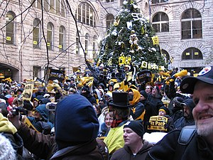 2008 Pittsburgh Steelers season - January 16, 2009 Steelers rally at Allegheny County Courthouse before the game
