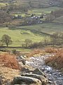 Steep path off Lingmoor Fell, looking down on Little Langdale - geograph.org.uk - 667141.jpg