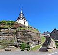 Steffeln (Eifel); Palagonittuffsteinwand e.jpg