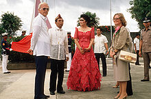 Stephen W. Bosworth with Ferdinand & Imelda Marcos in Leyte 1984-10-20.JPEG