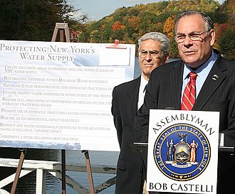 Robert Castelli - Castelli is joined by Assemblyman Steve Katz from the neighboring 99th Assembly District to call for a moratorium on 'hydro-fracking' for natural gas in the Croton Watershed, which covers both their districts.