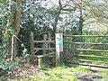 Stile from Severals Road to old railway - geograph.org.uk - 778484.jpg