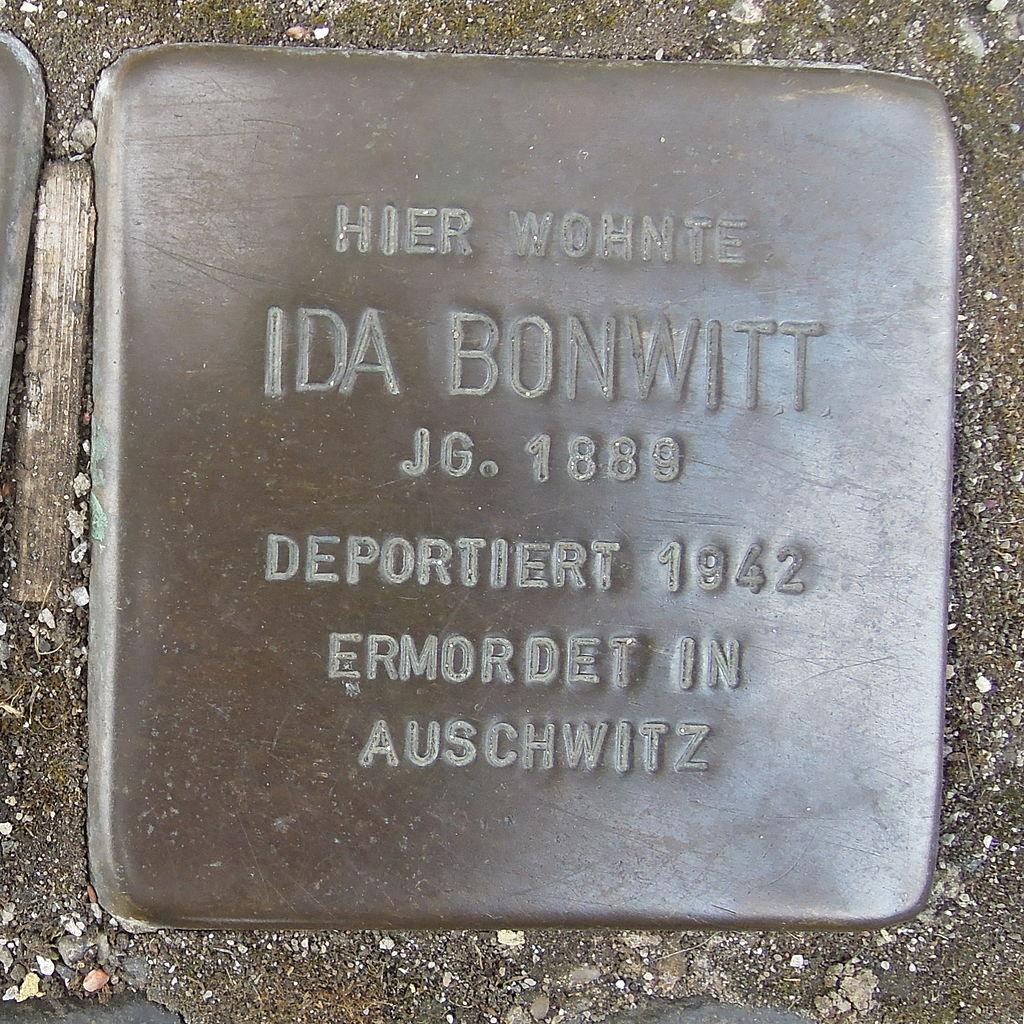 Stolperstein für Ida Bonwitt