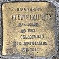 Stolperstein Martin-Luther-Str 12 (Schöb) Hedwig Galliner.jpg