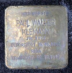 Photo of Paul Walter Klemann brass plaque