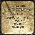 Stolpersteine Köln, Ida Rutkowsky (Mauritiuswall 85).jpg