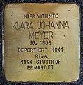 Stolpersteine Köln, Klara Johanna Meyer Stammheimer Straße 13.jpg