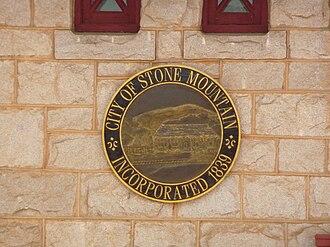 Stone Mountain, Georgia - Image: Stone Mountain, Georgia seal