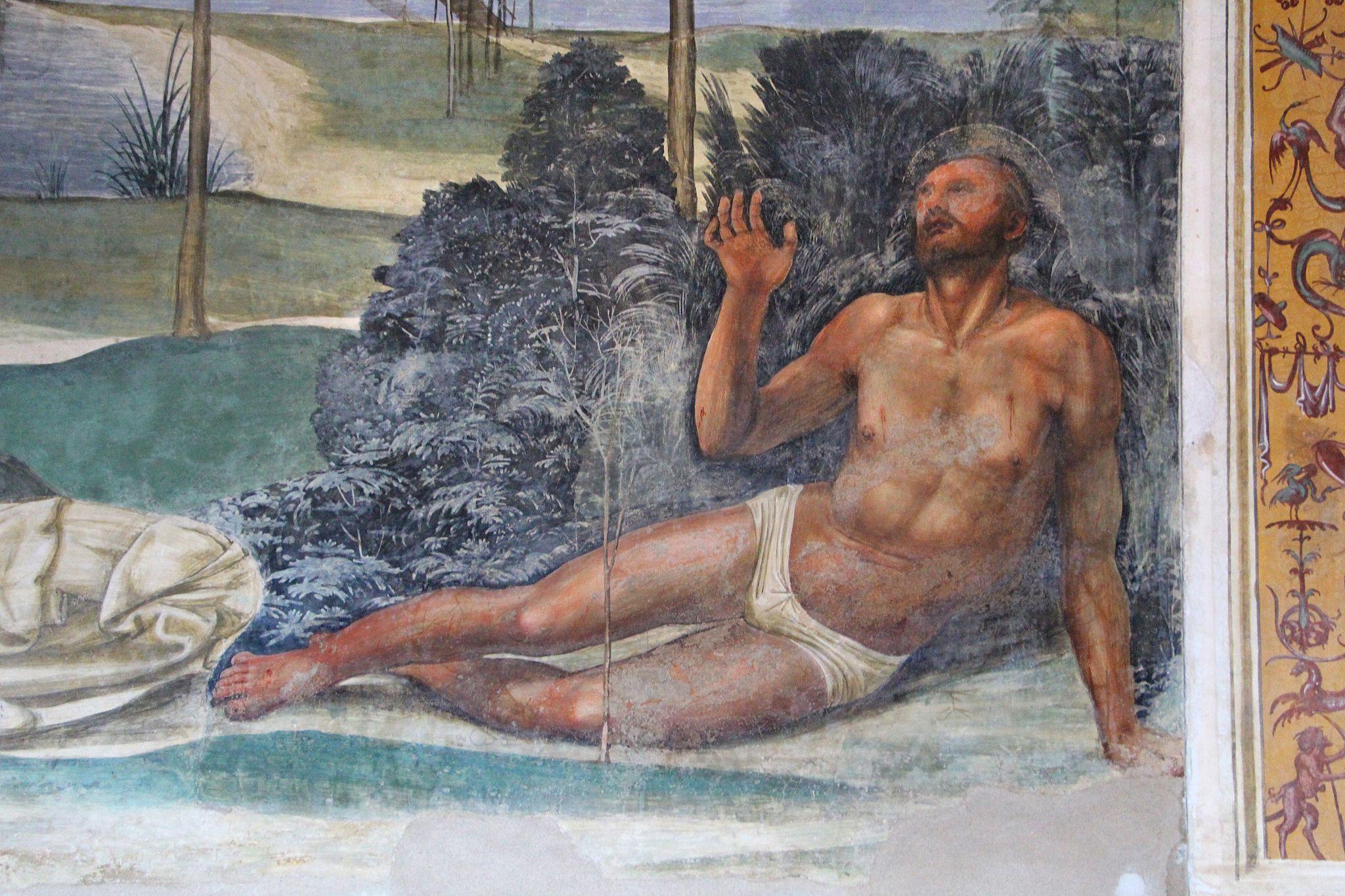 Storie di s. benedetto, 08 sodoma - Come Benedetto tentato d'impurità supera la tentazione 04