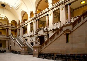 Palais de Justice, Strasbourg - Staircase of great hall