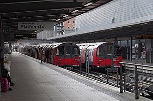 Jubilee line - Image: Stratford station MMB 50 1996 Stock