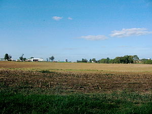 Clay Township, Lancaster County, Pennsylvania - Corn stubble near Weidmanville