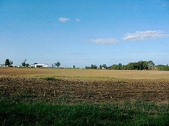 Clay Township, Lancaster County, Pennsylvania - Corn stubble near Weidmanville