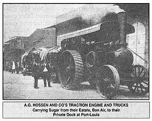 Sugar industry of Mauritius - Sugar Estate Tractor 1901
