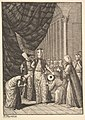 """Sultan Ahmed III Crowned in the Mosque at Eyups (Aubry de La Mottraye's """"Travels throughout Europe, Asia and into Part of Africa...,"""" London, 1724, vol. I, pl. 17B) MET DP824516.jpg"""