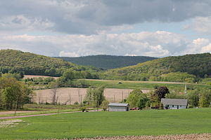 North Centre Township, Columbia County, Pennsylvania - Summer Hill in North Centre Township with a gap showing Knob Mountain beyond