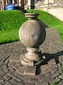 Sundial globe at Glasgow University.JPG
