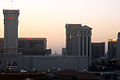 Sunset at Las Vegas downtown, the Caesars Palace (7315563718).jpg