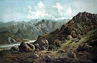... サトレジ川の渓谷(1857年ごろ