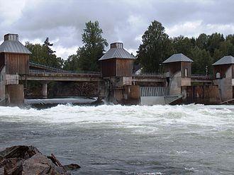 Nes, Akershus -  Svanfossen on the river Vorma in Fenstad
