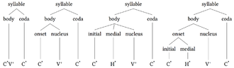 Syllable - Image: Syllable body coda