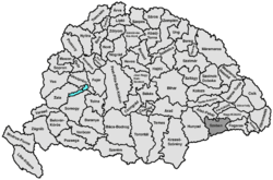 Location of Szeben