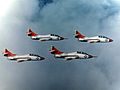 TF-9J Cougars of VT-25 in flight in the 1960s.jpg