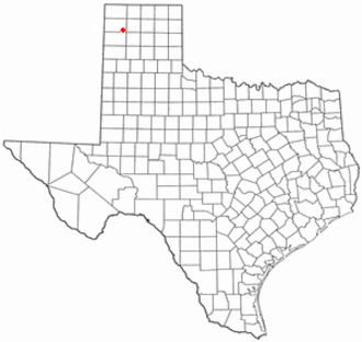 Channing, Texas - Image: TX Map doton Channing