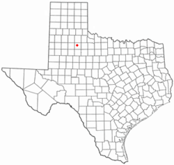 Location of Dickens, Texas