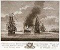 T Verbrande en Boegceren nade Noorder wall van t'Lands oorlog Schip Rhynland op de Rheede van Texel den 20 October 1783 RMG PU6000.jpg