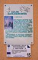 Tablice informacyjne na kościele Znalezienia Krzyża Świętego w Skoczowie.JPG