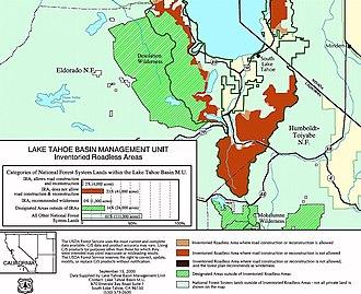 Dardanelles and Freel Roadless Areas - Image: Tahoeroadless