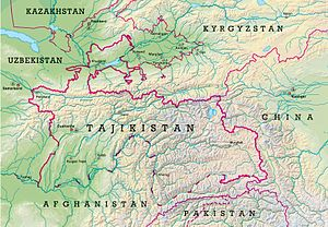 History of Tajikistan - Map of Tajikistan