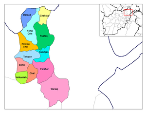 Districts of Takhar Province