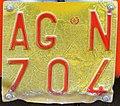 Targa automobilistica Italia 1992 AG•N 704 macchina operatrice.jpg