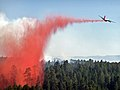 Taylor Fire air support drops slurry (3910063103).jpg