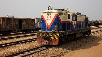 TAZARA Railway - Locomotive on the TAZARA at the Kapiri Mposhi Station in 2012.