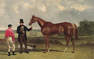 Teddington (horse) - Teddington, with Alec Taylor and Job Marson. By John Frederick Herring, Sr..