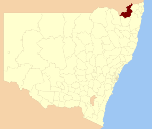 Tenterfield Shire - Location in New South Wales