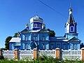 Teslugiv Radyvylivskyi Rivnenska-Dmytra Solunskogo church-view from a fence.jpg