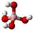 Ball and stick model of tetrahydroxyborate