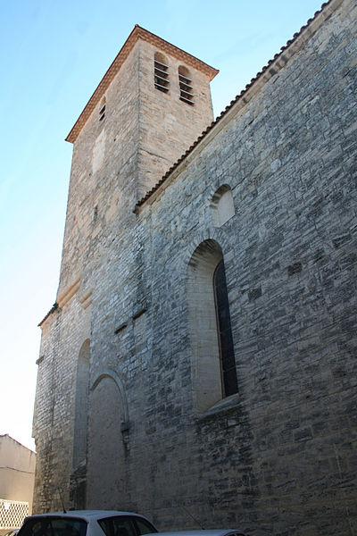 Thézan-lès-Béziers (Hérault) - clocher de l'église Saints-Pierre-et-Paul