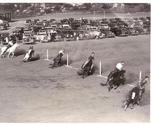 Cate School - Cate School competes against Thacher in the annual Gymkhana, February, 1936