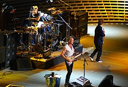 The Police performing live on 1 August 2007 at Madison Square Garden, New York.