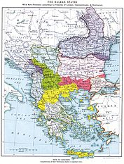 Border changes due to the Balkan Wars