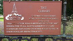 Photo of Thomas Blackwell and Walter Scott terracotta plaque